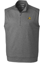 Wichita State Shockers Cutter and Buck Shoreline Sweater Vest - Charcoal