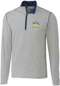 Michigan Wolverines Cutter and Buck Logo 1/4 Zip Pullover - White