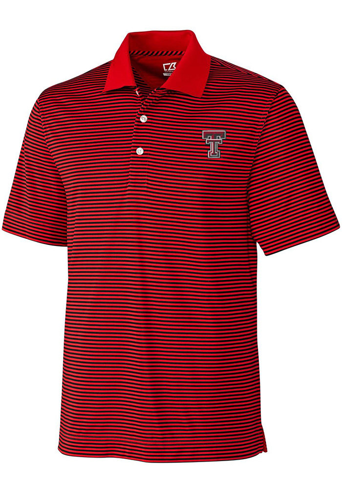 Cutter and Buck Texas Tech Red Raiders Mens Black Trevor Short Sleeve Polo - Image 1