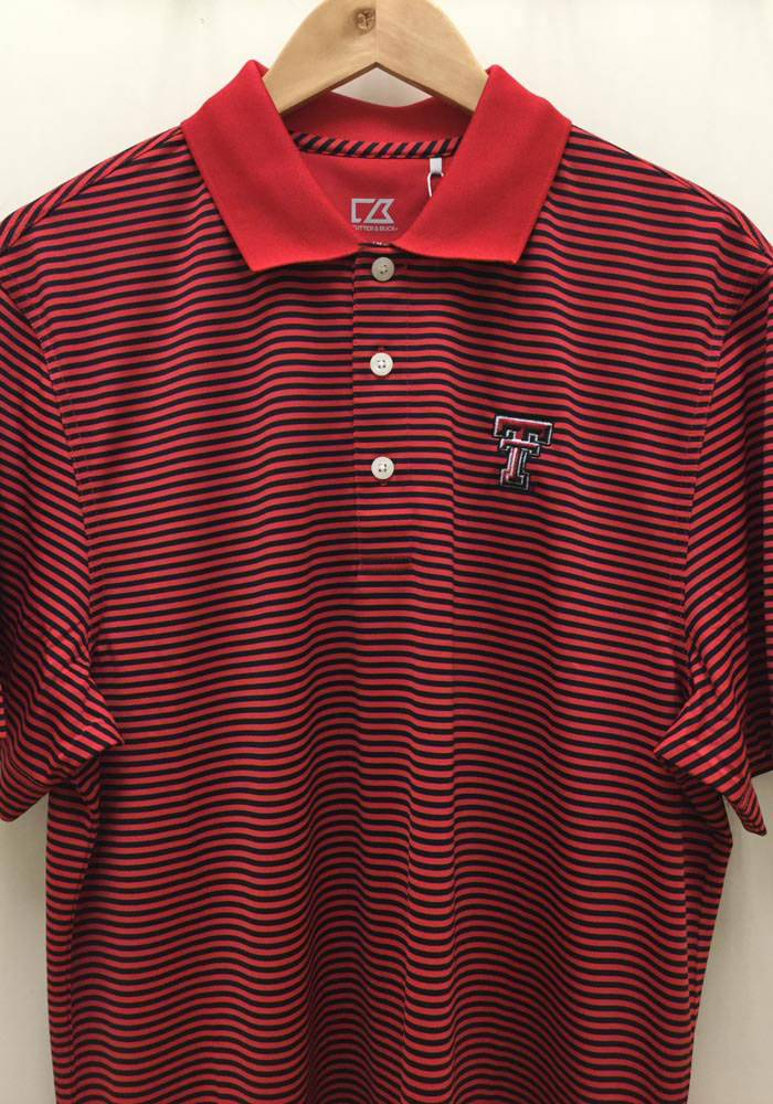 Cutter and Buck Texas Tech Red Raiders Mens Black Trevor Short Sleeve Polo - Image 2