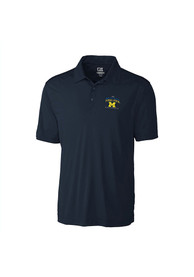 Michigan Wolverines Cutter and Buck Embroidered Logo Polo Shirt - Navy Blue