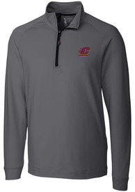 Central Michigan Chippewas Cutter and Buck Jackson 1/4 Zip Pullover - Grey