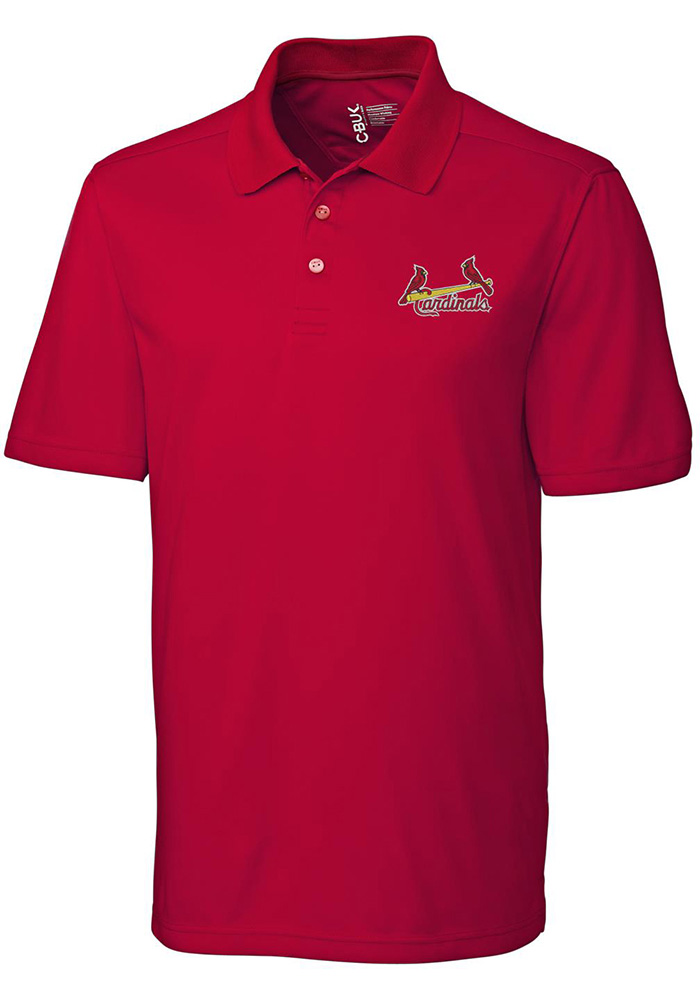 Cutter and Buck St Louis Cardinals Mens Red Fairwood Short Sleeve Polo - Image 1