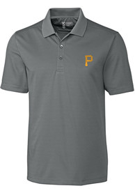 Pittsburgh Pirates Cutter and Buck Fairwood Polo Shirt - Grey