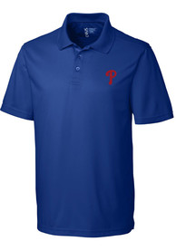 Philadelphia Phillies Cutter and Buck Fairwood Polo Shirt - Blue