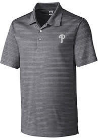 Philadelphia Phillies Cutter and Buck Interbay Polo Shirt - Charcoal