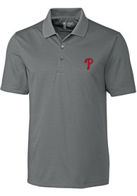 Philadelphia Phillies Cutter and Buck Fairwood Polo Shirt - Charcoal