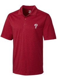 Philadelphia Phillies Cutter and Buck Chelan Polo Shirt - Red