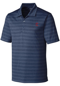 Cleveland Indians Cutter and Buck Interbay Polo Shirt - Navy Blue