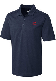 Cleveland Indians Cutter and Buck Chelan Polo Shirt - Navy Blue