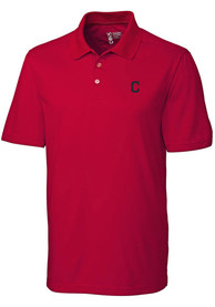 Cleveland Indians Cutter and Buck Fairwood Polo Shirt - Red