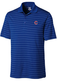 Chicago Cubs Cutter and Buck Franklin Stripe Polo Shirt - Blue