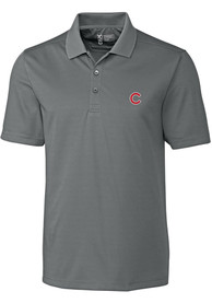 Chicago Cubs Cutter and Buck Fairwood Polo Shirt - Grey