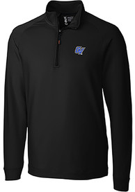 Grand Valley State Lakers Cutter and Buck Jackson 1/4 Zip Pullover - Black