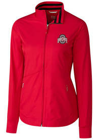 Ohio State Buckeyes Womens Cutter and Buck Nine Iron Light Weight Jacket - Red
