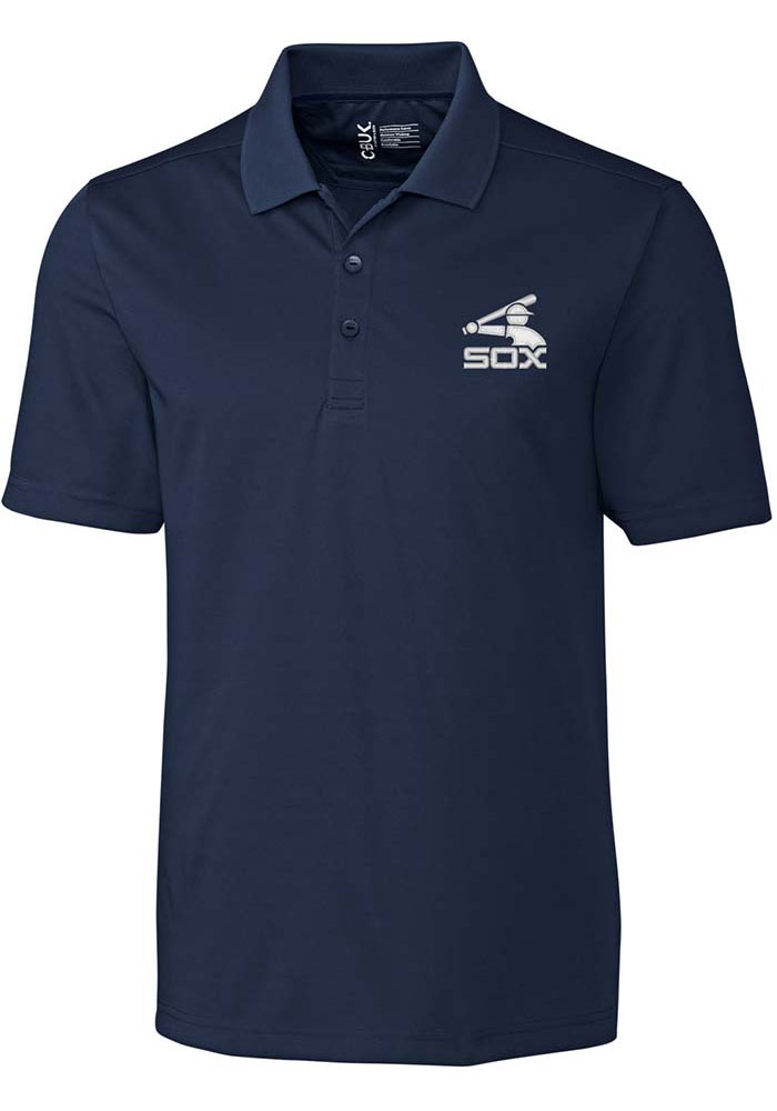 Cutter and Buck Chicago White Sox Mens Navy Blue Fairwood Short Sleeve Polo - Image 1
