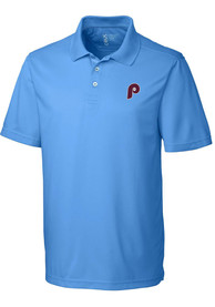 Philadelphia Phillies Cutter and Buck Fairwood Polo Shirt - Light Blue