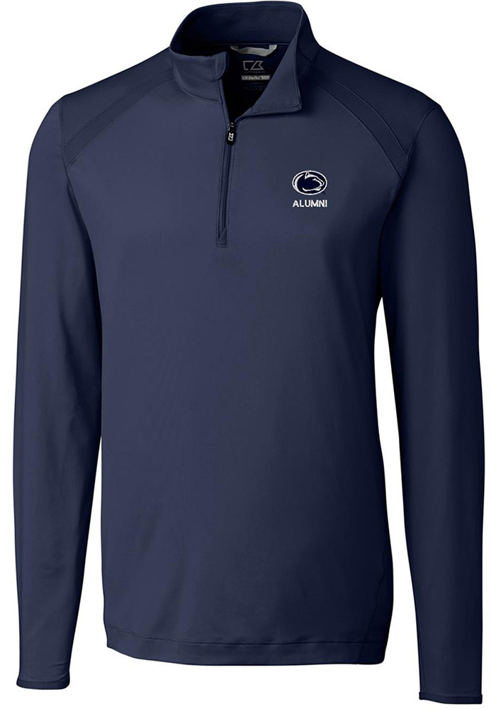 Cutter and Buck Penn State Nittany Lions Mens Navy Blue Alumni Long Sleeve 1/4 Zip Pullover - Image 1