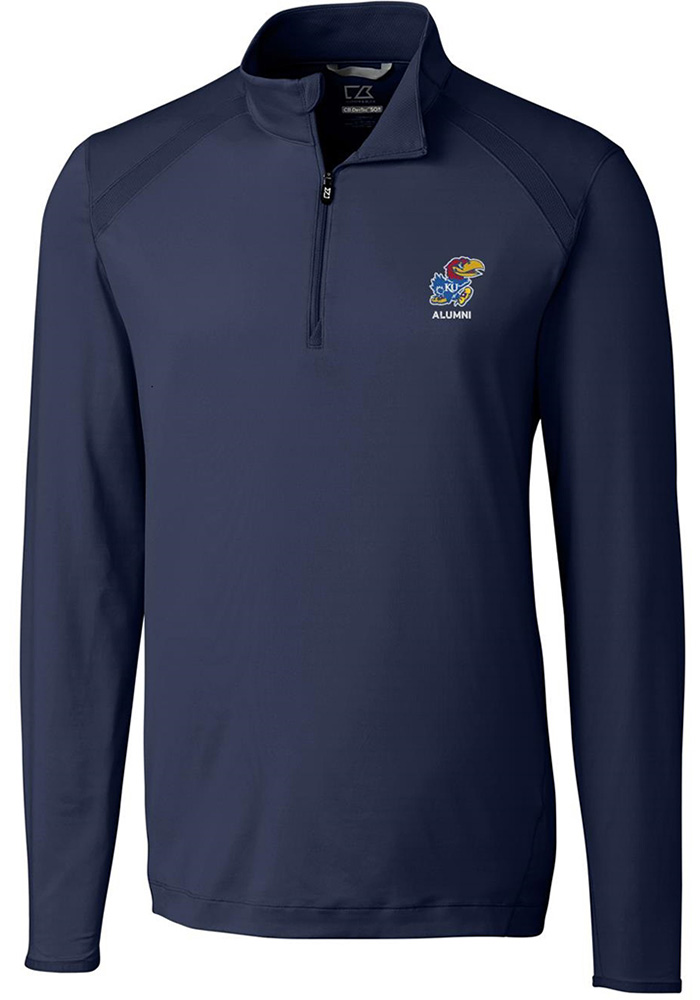 Kansas Jayhawks Cutter and Buck Williams 1/4 Zip Pullover - Navy Blue