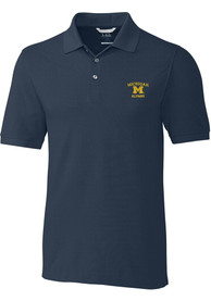 Michigan Wolverines Cutter and Buck Advantage Polo Shirt - Navy Blue