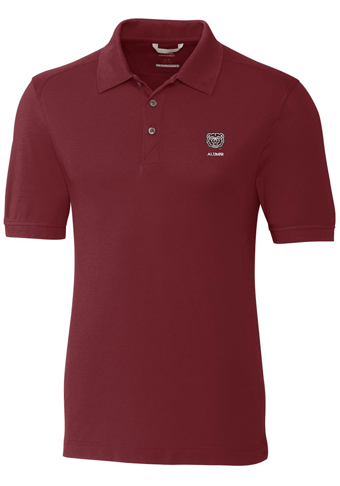 Cutter and Buck Missouri State Bears Mens Maroon Advantage Short Sleeve Polo - Image 1