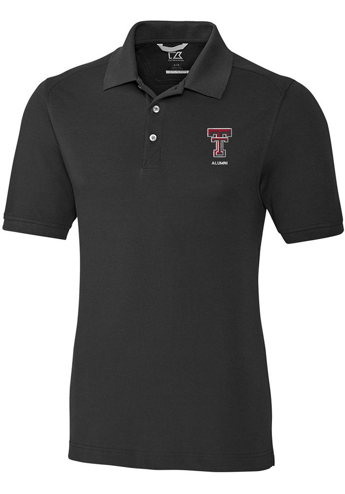 Cutter and Buck Texas Tech Red Raiders Mens Black Alumni Short Sleeve Polo - Image 1