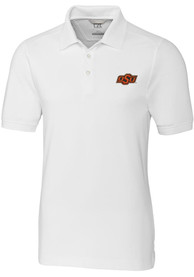 Oklahoma State Cowboys Cutter and Buck Advantage Polo Shirt - White