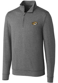 Missouri Tigers Cutter and Buck Shoreline 1/4 Zip Pullover - Charcoal