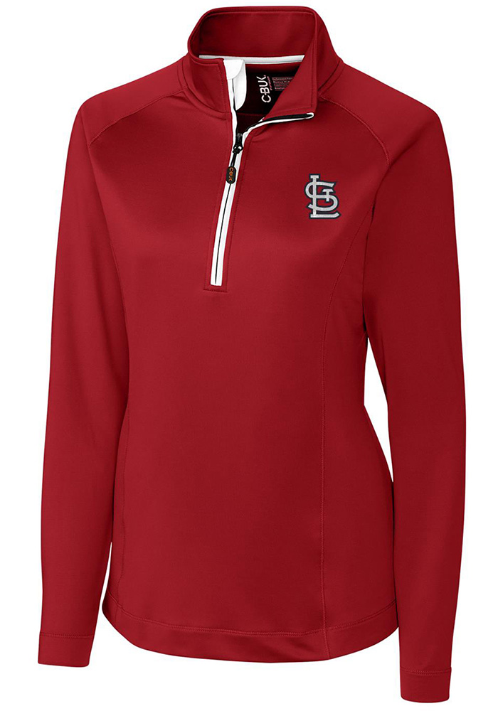 Cutter and Buck STL Cardinals Womens Red Jackson 1/4 Zip Pullover - Image 1