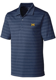 Michigan Wolverines Cutter and Buck Interbay Polo Shirt - Navy Blue