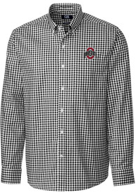 Ohio State Buckeyes Cutter and Buck League Dress Shirt - Charcoal