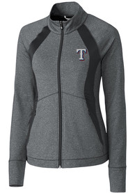 Texas Rangers Womens Cutter and Buck Shoreline Medium Weight Jacket - Charcoal
