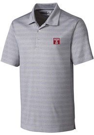 Temple Owls Cutter and Buck Interbay Polo Shirt - Grey