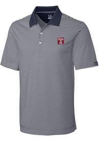 Temple Owls Cutter and Buck Trevor Polo Shirt - Charcoal