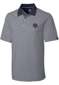 Texas A&M Aggies Cutter and Buck Trevor Polo Shirt - Charcoal