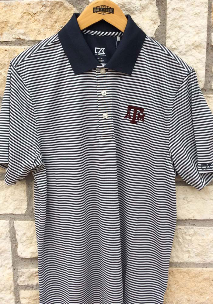 Cutter and Buck Texas A&M Aggies Mens Charcoal Trevor Short Sleeve Polo - Image 2