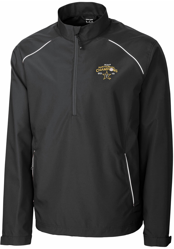 Cutter and Buck Vanderbilt Commodores Mens Black 2019 CWS Champions Beacon Light Weight Jacket - Image 1