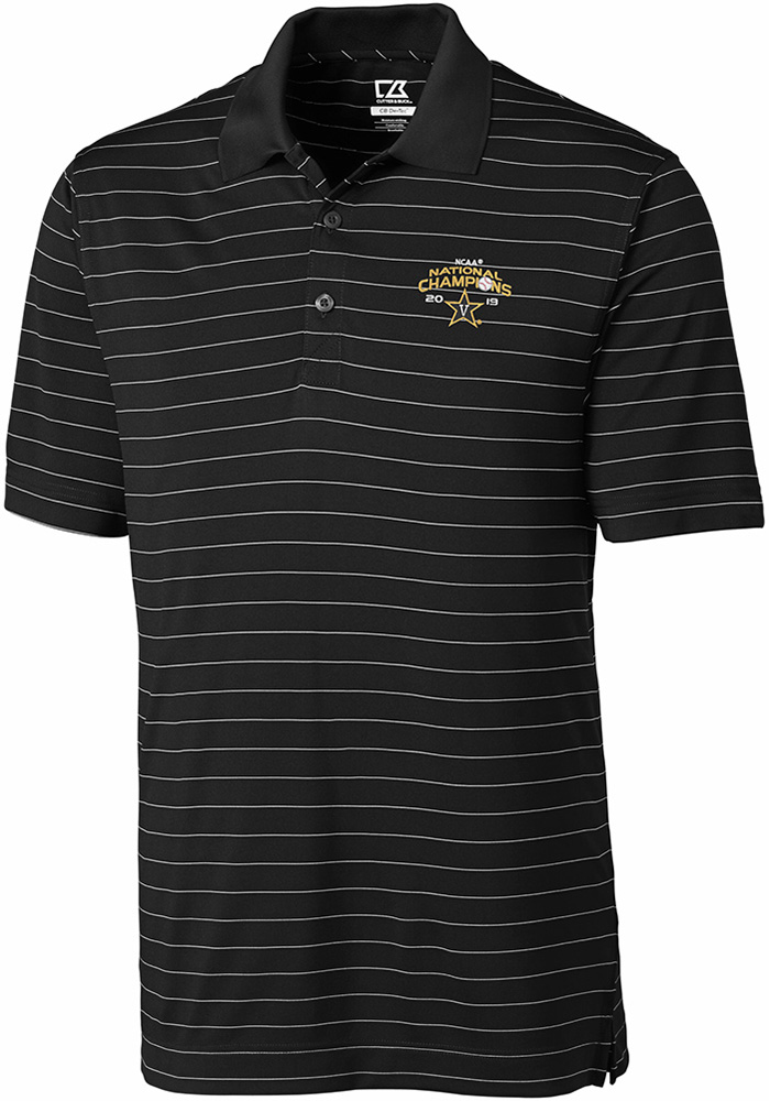 Cutter and Buck Vanderbilt Commodores Mens Black 2019 CWS Champions Franklin Short Sleeve Polo - Image 1