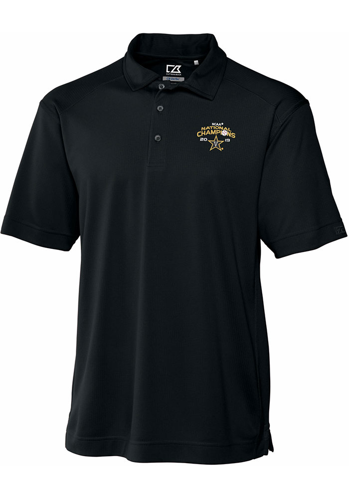 Cutter and Buck Vanderbilt Commodores Mens Black 2019 CWS Champions Genre Short Sleeve Polo - Image 1