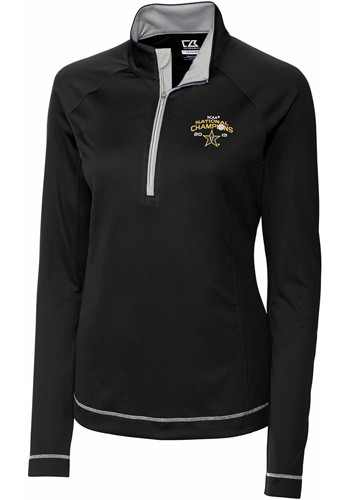 Cutter and Buck Vandy Womens Black 2019 CWS Champions Evolve 1/4 Zip Pullover - Image 1