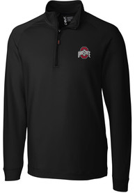 Ohio State Buckeyes Cutter and Buck Jackson 1/4 Zip Pullover - Black