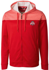 Ohio State Buckeyes Cutter and Buck Pop Fly Zip - Red
