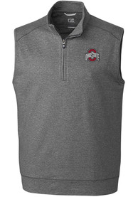Ohio State Buckeyes Cutter and Buck Shoreline Vest - Charcoal