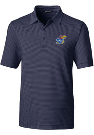 Kansas Jayhawks Cutter and Buck Forge Polo Shirt - Navy Blue