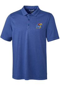 Kansas Jayhawks Cutter and Buck Cascade Polo Shirt - Blue
