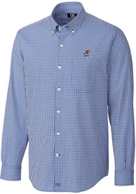 Kansas Jayhawks Cutter and Buck Gingham Dress Shirt - Blue