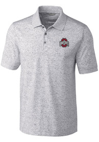 Ohio State Buckeyes Cutter and Buck Advantage Polo Shirt - Grey
