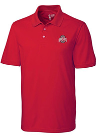 Ohio State Buckeyes Cutter and Buck Fairwood Polo Shirt - Red