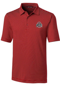 Ohio State Buckeyes Cutter and Buck Forge Pencil Polo Shirt - Red