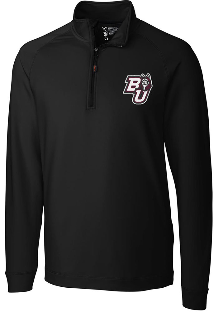 Cutter and Buck Bloomsburg University Huskies Mens Black Jackson Long Sleeve 1/4 Zip Pullover - Image 1
